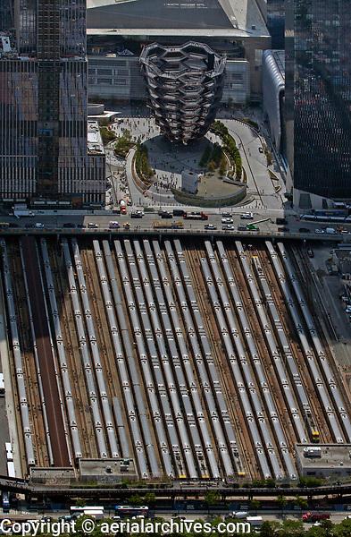 aerial photograph of the Hudson Rail Yards, Manhattan, New York City