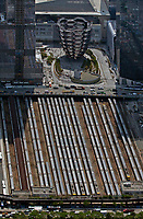 aerial photograph of the Hudson Rail Yards, Manhattan, New York City