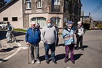(a few) bystanders and a local road marchal<br /> <br /> 107th Liège-Bastogne-Liège 2021 (1.UWT)<br /> 1 day race from Liège to Liège (259km)<br /> <br /> ©kramon
