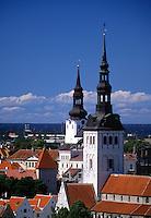 Old Town skyline Tallinn Estonia.