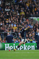 Greig Laidlaw of Scotland takes a penalty kick during the Quarter Final of the Rugby World Cup 2015 between Australia and Scotland - 18/10/2015 - Twickenham Stadium, London<br /> Mandatory Credit: Rob Munro/Stewart Communications