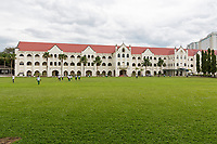 Students Practicing Athletics, St. Michael's Institution, Founded 1912. Ipoh, Malaysia.