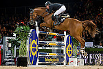 Gerco Schroder of Netherlands riding Glock's London N.O.P. in action during the Hong Kong Jockey Club Trophy competition as part of the Longines Hong Kong Masters on 13 February 2015, at the Asia World Expo, outskirts Hong Kong, China. Photo by Victor Fraile / Power Sport Images