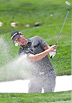 August 5, 2012: John Mallinger from Long Beach, CA hits out of a sand trap on the 1st hole during the final round of the 2012 Reno-Tahoe Open Golf Tournament at Montreux Golf & Country Club in Reno, Nevada.