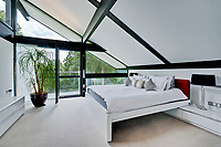 BNPS.co.uk (01202) 558833. <br /> Pic: Savills/BNPS<br /> <br /> Pictured: Bedroom. <br /> <br /> The UK home of Hollywood actor Antonio Banderas is on the market for £2.95m.<br /> <br /> The Mask of Zorro star moved from LA to Cobham in Surrey in 2015 with girlfriend Nicole Kimpel after splitting from his wife of 20 years Melanie Griffiths.<br /> <br /> They are now selling their home to spend more time in Banderas' native Malaga, where he has bought and built a theatre.