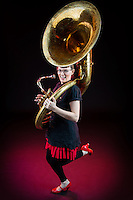 Female tuba player