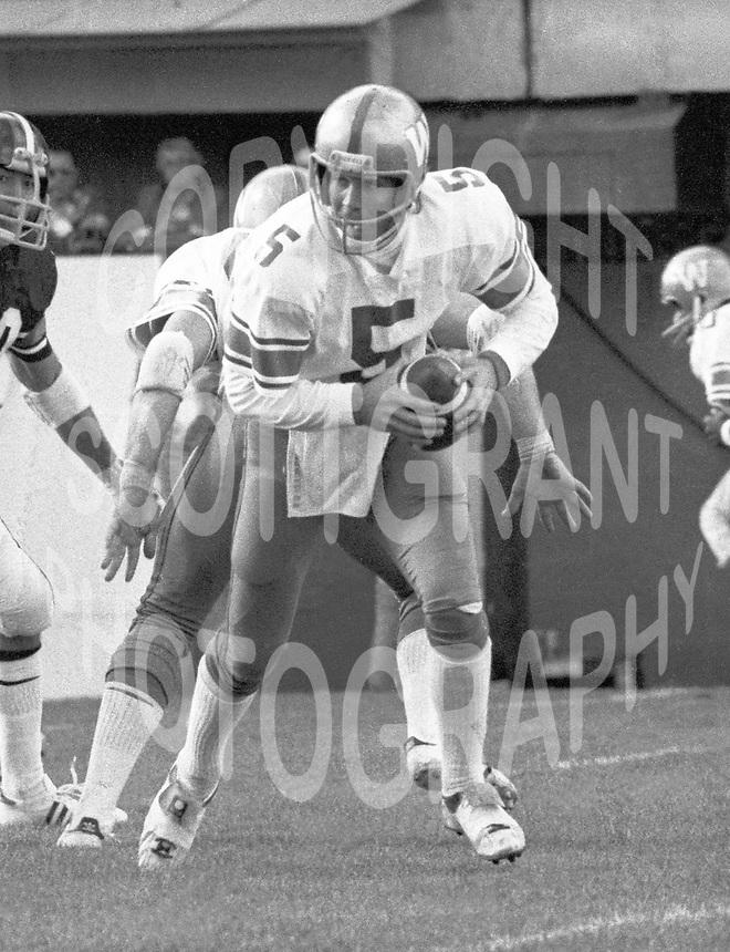 Ralph Dieter Brock Winnipeg Blue Bombers quarterback. Copyright photograph Scott Grant