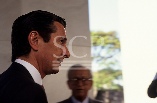 Brasilia, Brazil; ex-president Fernando Collor de Mello before his impeachment.