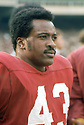 Washington Redskins Larry Brown (43) during a game from his 1970 season with the Washington Redskins. Larry Brown played for 8 season all with the Washington Redskins, was a 4-time Pro Bowler and was the 1972 NFL MVP.<br /> (SportPics)