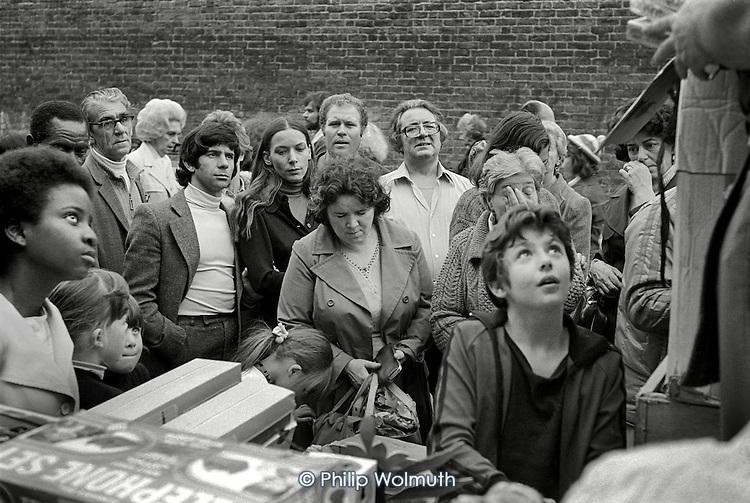 1977: Portobello market, Notting Hill.