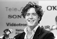 August 23, 1987 File Photo - Montreal (Qc) Canada - Hugh Grant at 1987 Montreal  World Film Festival.