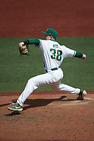 Charlotte 49ers relief pitcher Jackson Boss (38) in action against the UTSA Roadrunners at Hayes Stadium on April 18, 2021 in Charlotte, North Carolina. (Brian Westerholt/Four Seam Images)