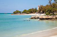 Nungwi, Tanzania, Zanzibar.  Ras Nungwi Lighthouse and Beach.