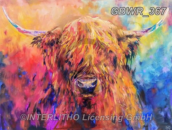 Simon, REALISTIC ANIMALS, REALISTISCHE TIERE, ANIMALES REALISTICOS, innovativ, paintings+++++SueGardner_RainbowCow,GBWR367,#a#, EVERYDAY