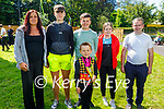 Marcus O'Sullivan from Milltown, who won 1st prize in the U8 Championship at the Irish Dancing Fest in the Park 2021 on Thursday. L to r: Helena, Gavin, Jonathan, Marcus, Ellie and Paudi O'Sullivan.
