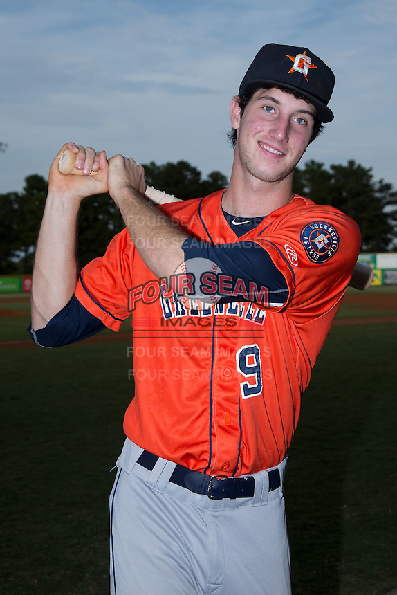 Greeneville Astros outfielder Kyle Tucker (9) poses for a photo prior to the game against the Burlington Royals at Burlington Athletic Park on August 29, 2015 in Burlington, North Carolina.  The Royals defeated the Astros 3-1. (Brian Westerholt/Four Seam Images)