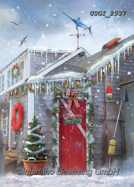 GIORDANO, CHRISTMAS SYMBOLS, WEIHNACHTEN SYMBOLE, NAVIDAD SÍMBOLOS, paintings+++++,USGI2937,#xl# ,winterlandscape