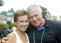 3-7-07,England, Wimbldon, Tennis, Petr Krajicek  met zijn dochter  Michaella Krajicek