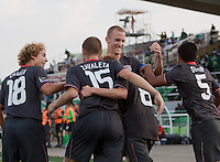 US Men's Under 17 goal celebration. US Men's National Team Under 17 defeated Malawi 1-0 in the second game of the FIFA 2009 Under-17 World Cup at Sani Abacha Stadium in Kano, Nigeria on October 29, 2009.