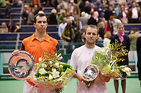26-2-06, Netherlands, tennis, Rotterdam, left the winner Stepanek and right the runner up C.Rochus