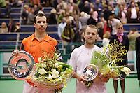 26-2-06, Netherlands, tennis, Rotterdam, left the winner Stepanek and right the runner up C.Rochus
