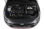 Car Stock 2021 Hyundai i30-Fastback-N - 5 Door Hatchback Engine  high angle detail view