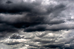 Stratocumulus opacus or layered stratified cumulus immediate bad weather