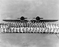 Graduation inspection exercises for Photographers.  Port wing of Class 12-43.  Location:  NAS Pensacola, Florida.  Date: September 30, 1943.
