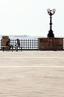 Veduta del Lungomare Vittorio Emanuele a Taranto.<br /> View of the Lungomare Vittorio Emanuele in Taranto.<br /> UPDATE IMAGES PRESS/Riccardo De Luca