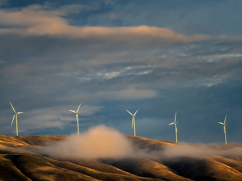 Windmills near the Columbia River Gorge, Oregon