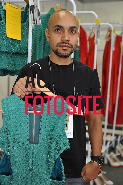 Foto: Gustavo Scatena/Agencia Fotosite<br /> <br /> Belo Horizonte, Brasil – 25/04/2012 -  Backstage do desfile de Apartamento 03 durante o Minas Trend Preview  -  Verao 2013.