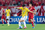 Jiangsu FC Defender Li Ang (L) and Shanghai FC Forward Elkeson De Oliveira Cardoso (R) during the AFC Champions League 2017 Round of 16 match between Shanghai SIPG FC (CHN) vs Jiangsu FC (CHN) at the Shanghai Stadium on 24 May 2017 in Shanghai, China. Photo by Marcio Rodrigo Machado / Power Sport Images