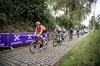 the early breakaway group up the first passage of the Oude Kwaremont<br /> <br /> 104th Ronde van Vlaanderen 2020 (1.UWT)<br /> 1 day race from Antwerpen to Oudenaarde (BEL/243km) <br /> <br /> ©kramon