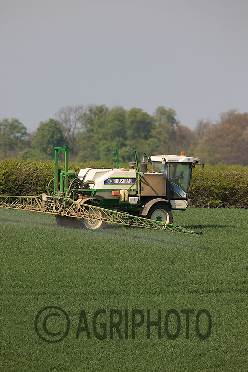 .Self Propelled Crop Sprayer Spraying Pesticides On Wheat