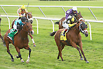 Upgrade with John Velazquez win the 29th running of the Grade III Jaipur Stakes for 3-year olds & up, gpoing 7 furlongs on the Widner turf.  Trainer Michelle Nihei.  Owner Dennis Narlinger