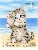 Kayomi, CUTE ANIMALS, paintings, Seashell_M, USKH204,#AC# illustrations, pinturas ,everyday