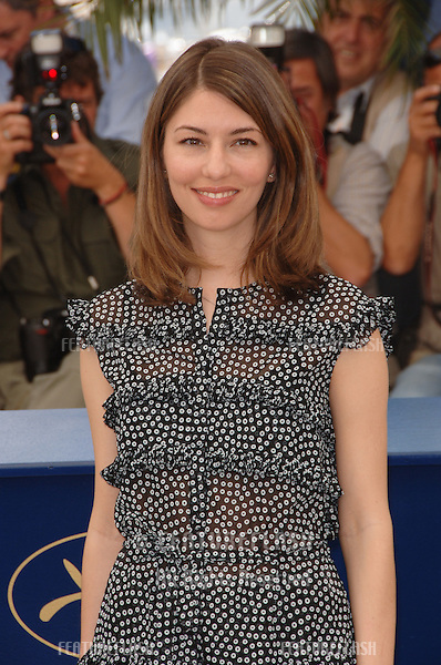"""Director SOFIA COPPOLA at the photocall for """"Marie Antoinette"""" at the 59th Annual International Film Festival de Cannes..May 24, 2006  Cannes, France..© 2006 Paul Smith / Featureflash"""