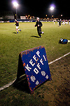Cammell Laird 1 Witton Albion 2, 12/12/2008. Kirklands, Unibond League premier division. Players of Cammell Laird FC warming up prior to their Unibond League premier division game at Kirklands, Birkenhead against Witton Albion. The visitors won by 2 goals to 1 on front of a crowd of just 136. Formed in 1907, Lairds joined the English pyramid in 2004 and gained three promotions in five years, but financial problems forced the club to revert to amateur status in December 2008. Photo by Colin McPherson