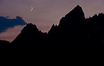 Crescent Moon Over the Tetons