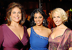 From left: Chairs Ashley Wehrly, Elizabeth Abraham and Isabel David at the Houston Grand Opera's Opening Night dinner Friday Oct. 23,2009. (Dave Rossman/For the Chronicle)