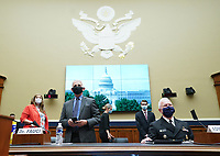 Director of the National Institute for Allergy and Infectious Diseases Dr. Anthony Fauci and Assistant Secretary for Health U.S. Department of Health and Human Services ADM Brett P. Giroir arrive to testify before the House Committee on Energy and Commerce on the Trump Administration's Response to the COVID-19 Pandemic, on Capitol Hill in Washington, DC on Tuesday, June 23, 2020.    <br /> Credit: Kevin Dietsch / Pool via CNP/AdMedia