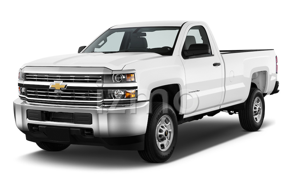2015 Chevrolet Silverado 2500 Hd Work Truck Regular Cab Lwb 2 Door Pickup 2WD Angular Front stock photos of front three quarter view
