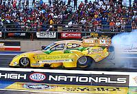 Jul. 19, 2013; Morrison, CO, USA: NHRA funny car driver Johnny Gray during qualifying for the Mile High Nationals at Bandimere Speedway. Mandatory Credit: Mark J. Rebilas-