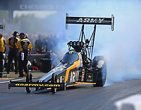 Sep 2, 2017; Clermont, IN, USA; NHRA top fuel driver Tony Schumacher during qualifying for the US Nationals at Lucas Oil Raceway. Mandatory Credit: Mark J. Rebilas-USA TODAY Sports