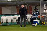 29th December 2020; Dens Park, Dundee, Scotland; Scottish Championship Football, Dundee FC versus Alloa Athletic; Dundee manager James McPake urges his team on