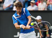 16-06-13, Netherlands, Rosmalen,  Autotron, Tennis, Topshelf Open 2013, First round,  Robin Haase<br /> <br /> Photo: Henk Koster