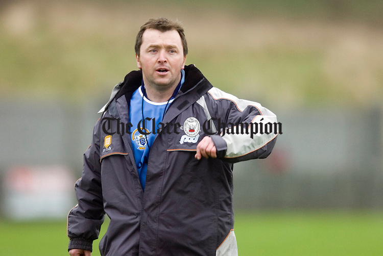Manager Joe Garry.Pic Arthur Ellis.