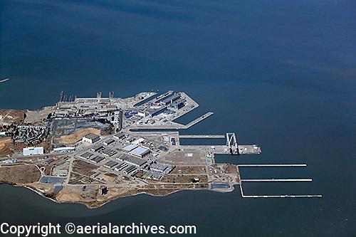Aerial photograph Hunters Point San Francisco California