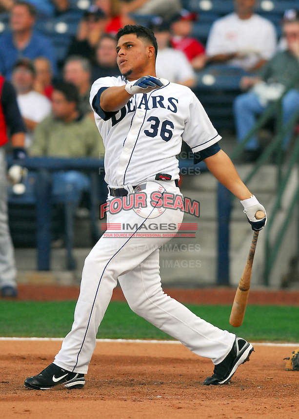 Javier Brito of the Mobile Bay Bears hits during the Home Run Derby, part of the 2007 Southern League All-Star Game July 9, 2007, at Trustmark Park in Pearl, Miss. Photo by:  Tom Priddy/Four Seam Images