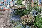 Table and Chair Planters, Oregon Gardens  Oregon Gardens, Silverton, Oregon, USA, an 80 acre botanical garden in the Willamette Valley.  Childrens Garden.